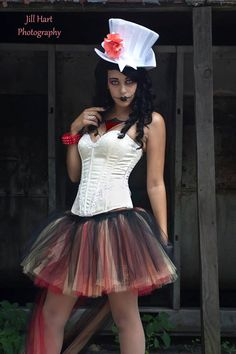 Mad+hatter+Adult+tutu+skirt+Trash+poofy+red+by+SistersOfTheMoon,+$65.00