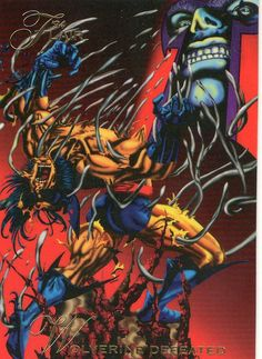 Magneto vs Wolverine - Marvel #118 1994 Flair. This was one of the most epic happenings I saw in an Xmen comic.