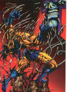 Magneto vs Wolverine - Marvel #118 1994 Flair