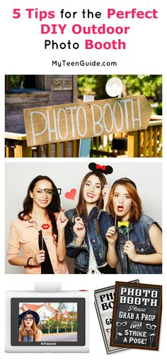 Here is everything you need to make the perfect DIY outdoor photo booth for your next party! Check it out!