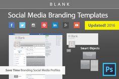Facebook Timeline Cover & Social Media Branding Templates by Bootstrap Creative on @creativemarket #webdesign