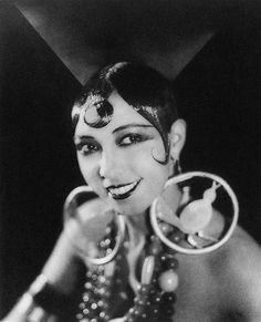 Amazing and show-stopping stage jewelry, as worn by Jazz Age style icon and dance sensation Josephine Baker