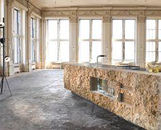 Marble kitchen by Werkhaus GmbH & Co. Kitchen Room Design, Best Kitchen Designs, Kitchen Sets, Interior Design Kitchen, Kitchen Decor, Home Design, Küchen Design, Minimalist Kitchen, Design Thinking