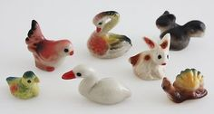 Dollhouse Miniature Figurine 7 Ceramic Animal Fairy Garden  Mouse over image to zoom  Zoom InZoom Out  Sell one like this    Dollhouse Miniature Figurine 7 Ceramic Animal Fairy Garden