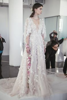 Ethereal Gowns / Backstage / Marchesa Fall 2017 Bridal /
