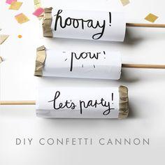 DIY Confetti Cannons - http://zanaproducts.co.za/2014/06/23/diy-confetti-push-poppers/