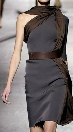 Lanvin - I have fallen in love with this dress. But with a different colored belt & scarf ..