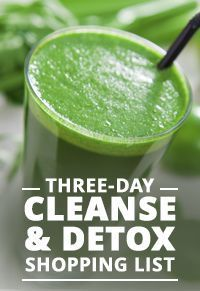 Download a FREE copy of our Three Day Cleanse & Detox Shopping List today! #cleaneating #shoppinglist #detox