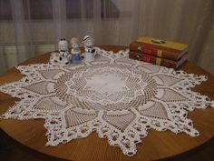 """Crochet Doily:  Measures 36 """"  (90 cm ), made from beautiful, heirloom quality 100% cotton.   Makes an incredible gift to that special friend or loved one. Add this beauty to your heirloom collection"""