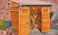 Holz-Fahrradschuppen