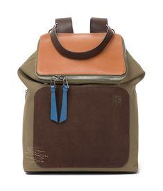b1190ac6ff LOEWE Goya Backpack Choc Brown Khaki Green Tan
