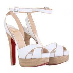 Christian Louboutin Vivaeva White Platform Sandals 160mm