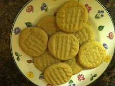 Peanut Butter Cookies (KitchenAid stand mixer recipe)