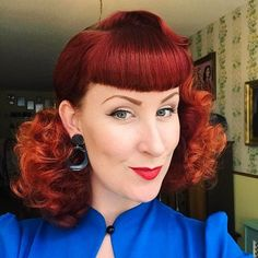 Rollers and Suavecita Grooming Spray are a dream team! How fabulous is @thedutchpinup hairstyle?!  #Suavecitapomade #Suavecita #Pomade #Hair #Hairstyle #Style #Redhead #Red #Ginger #Vintagehair #Pinuphair #Retro #Curls #Waves #Hairdo #Bangs #Suavecitabeauty #Beauty