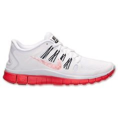 Nike Free 5.0 Premium Running Shoe White Red