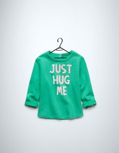 velour sweater with text - Cardigans and sweaters - Baby girl (3-36 months) - Kids - New collection - ZARA United States