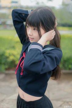 School Girl Japan, School Girl Dress, School Uniform Girls, Girls Uniforms, Japan Girl, Beautiful Japanese Girl, The Most Beautiful Girl, Beautiful Asian Girls, Cute Asian Girls