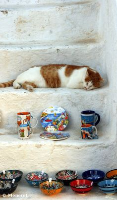 Nap time in Santorini , Greece