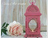 Moroccan Lantern Vintage Moroccan Lantern Shabby chic Candle Holder Outdoor Wedding Centerpiece Decor