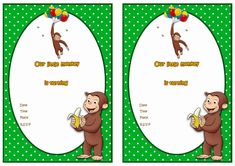 Curious George Birthday Printable Invitations Click image below to enlarge and print Superman Birthday, 1st Boy Birthday, First Birthday Parties, Free Birthday, Birthday Ideas, Christmas Party Invitation Wording, Free Printable Birthday Invitations, Stationary Printable, Invitation Ideas