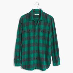 Flannel Cargo Workshirt in Buffalo Check : boyshirts   Madewell