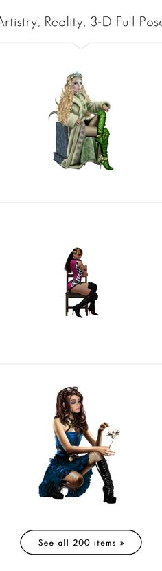 """""""Artistry, Reality, 3-D Full Pose"""" by kristie-miles ❤ liked on Polyvore featuring dolls and people"""