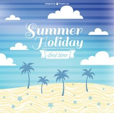 Free vector summer holiday design