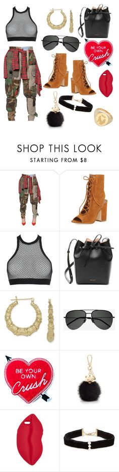 """Be Ur Own Crush"" by chvbbynymph on Polyvore featuring RVDK, Laurence Dacade, Dsquared2, Mansur Gavriel, Bamboo, Yves Saint Laurent, Yvng Pearl, Furla, STELLA McCARTNEY and Anissa Kermiche"