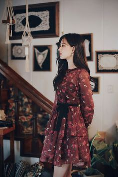 Korean Fashion Dress, Ulzzang Fashion, Asian Fashion, Modest Fashion, Fashion Dresses, Cute Red Dresses, Cute Skirt Outfits, Dress Outfits, Short Dresses
