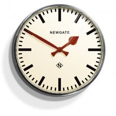 Newgate Clocks Putney Wall Clock Chrome
