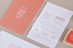 Stop & Dream   Invitación de boda · Wedding card: Peache