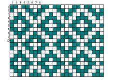 Graph Crochet, Crochet Blocks, Fair Isle Knitting, Knitting Charts, Chrochet, Weaving, Cross Stitch, Pattern, Socks