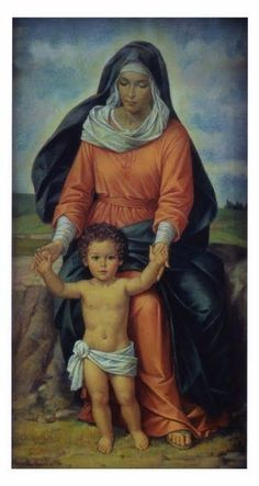 Blessed Virgin Lady with child Jesus. Mother Of Christ, Blessed Mother Mary, Blessed Virgin Mary, Catholic Art, Religious Art, Images Of Mary, Mama Mary, Religious Pictures, Sainte Marie