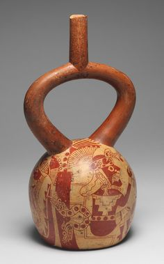 Confronting Figures Bottle, 4th–7th century Peru; Moche