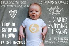 Monthly Baby Infographic by DillyPrints on Etsy