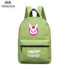 Bonito novo design rosa cor de rosa mini mochilas de nylon da menina linda  mochila OW personagem DVA NERF ESTA sacos mochila DVA NB243 7093640128307