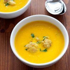 Curried Cauliflower Soup - via recipies from http://www.bluezones.com/live-longer/recipes/