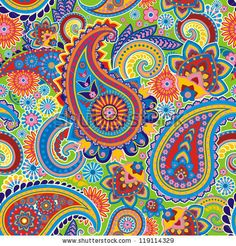 Seamless pattern based on traditional Asian elements Paisley by Sadovnikova Olga, via ShutterStock