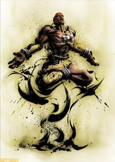 Street Fighter IV official artwork of Dhalsim.