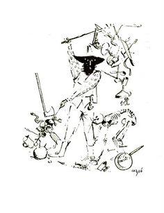 Melquíades, por Carybé. (Cem anos de solidão - Gabriel García Marquez)