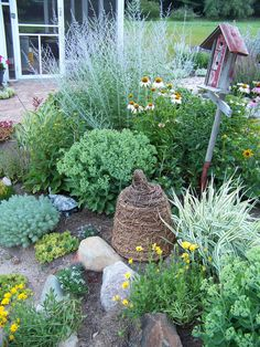 bee skeps are perfect in herb gardens