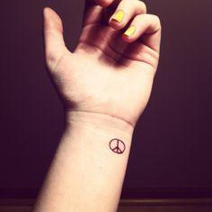 small tattoo | Tumblr #peace #tattoo #small #cute