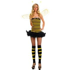 WD Lingerie - FANCY DRESS BUMBLE BEE TUBE DRESS COSTUME / YELLOW &... via Polyvore
