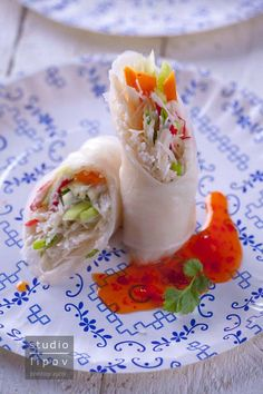 Spring Rolls | Lawendowy Dom Spring Rolls, Fresh Rolls, Ethnic Recipes, Food, Meal, Egg Rolls, Hoods, Chinese Egg Rolls, Eten