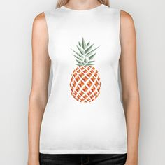 """Pineapple"" Biker Tank by Basilique on Society6."