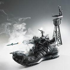 Sneakers sculptures