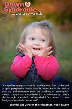 Lauryn; Peace, Love & Down Syndrome @Evelyn Siqueira Spencer Down Syndrome Society