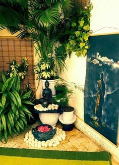 Ideas apartment patio plants living rooms - All About Small Balcony Garden, Small Balcony Decor, Corner Garden, Terrace Garden, Small Balconies, Balcony Ideas, House Plants Decor, Patio Plants, Buddha Decor