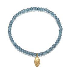 Faceted London Blue Quartz Peacock Bracelet #PeacockCollection #SatyaJewelry