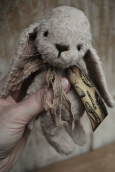 Artist Bear handmade Bunny Cecille SOLD by bearwithmee on Etsy, £79.00